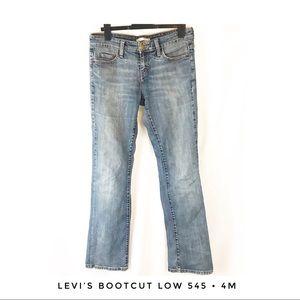 Levi's 545 4M Low Bootcut Denim Jeans Cotton